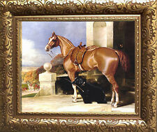 Bott Sidesaddle Horse Art Print Vintage Style Framed Fox Hunt Pony