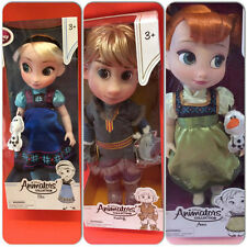 Disney Frozen Elsa Anna Kristoff Toddler Animator Dolls set of 3 new and boxed