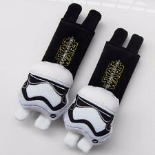 STAR WAR Clone Trooper Cartoon Cute Car Use SEAT BELT STRAP COVER Decoration Set