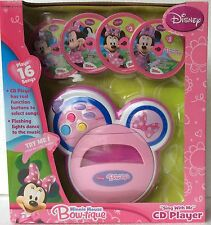 My First MINNIE MOUSE Bow-Tique Sing With Me Music CD PLAYER 16 Songs GIFT SET