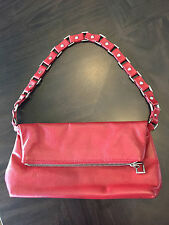 Wilsons Leater Red Handbag Shoulder Small Bag