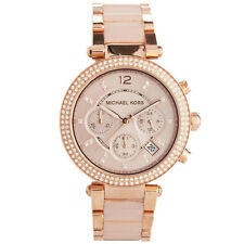 imported Michael Kors Women's MK5896 Rose Gold-cream tone Chronograph Watch.NEW