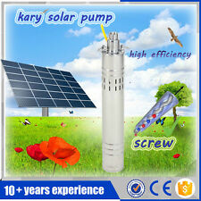 Kary DC screw solar water pumping machine stainless submersible horehole pump