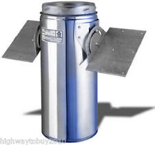 """Selkirk 206420 6"""" 6T-RSP Wood Stove Chimney Pipe Roof Support Package"""