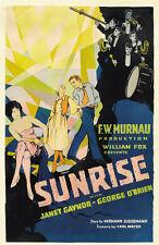 SUNRISE Movie POSTER 27x40 B George O'Brien Janet Gaynor Bodil Rosing Margaret