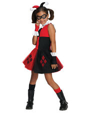 "Harley Quinn Kids Girl DC Supervillian Costume,Small,Age 3 - 4,HEIGHT 3' 8"" - 4'"