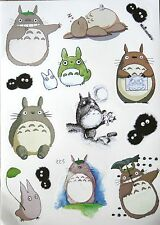 Totoro PVC Sticker Stickers Sheet Luggage Laptop Animation Studio Ghibli A4