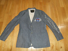 DON ED HARDY DESIGNS BY CHRISTIAN AUDIGIER TATTOO SPORTS COAT BLAZER MENS LARGE