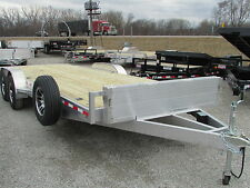 NEW WOLVERINE 22' ALUMINUM CAR HAULER FLATBED TRAILER *SUMMER BLOWOUT*DR TRAILER