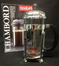 Bodum Chambord 8 Cup Coffee Maker Chrome French Press No 1928 New