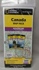 National Geographic Canada Adventure Travel Map Pack Bundle 1021131
