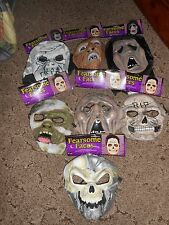 (7) NWT FEARSOME FACES RUBBER HALLOWEEN MASK LOT