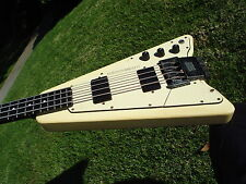 1990's Steinberger XP-2 Bass Guitar White Headless Active EMG Pickups