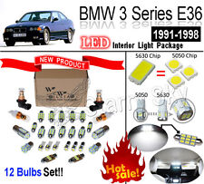 12pcs White 5630 LED Interior Light kit For BMW 3 Series E36 ( With 2 Rear Map )