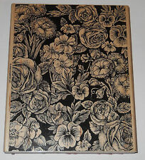 LARGE FLORAL BACKGROUND ~ 2005 STAMPIN UP wood mounted rubber stamp cards #360