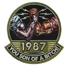 Predator You Son of a Bitch! 1987 Embroidered Patch - Sew / Iron On NEW