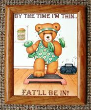 "DELIGHTFUL & UNUSUAL FRAMED SLIMMING PRINT "" BY THE TIME I'M THIN FAT WILL BE IN"