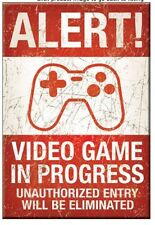 "Alert! Video Games In Progress - 3"" x 2"" Refrigerator Ice Box Magnet  M2037"