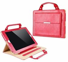 iPad Air 2 Red PU Leather Smart Stand Carrying Case Cover Handbag Style