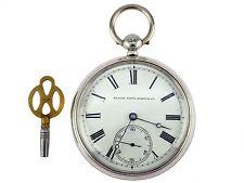 Elgin Watch & Co. 925 Sterling Silber mechanische Herren Schlüssel Taschenuhr