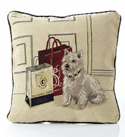 """Scotty Dog Tapestry Cushion Cover 18x18"""" (45x45cm)"""