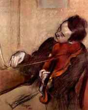 A3 Box Canvas The violinist 1 by Degas