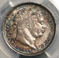 1817 PCGS UNC George III Silver Shilling Great Britain TONED Coin (16071401D)