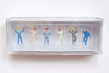 N scale Preiser 79105-2 Steeplejacks / Workers in Hardhats : 1/160 Figures