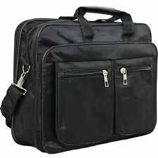 "13"" 14"" Inch Black Laptop Bag Case With Strap Zip Handles Mac Book Notebook Uk"