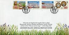 Isola di Ascensione 2015 FDC Magna Charta octocentenary 4V Set Copertura Re Giovanni