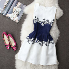 2016 Summer Autumn New Womens Dress Vintage Digital Evening Party Print Dresses