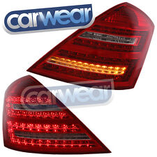 MERCEDES BENZ W221 07-09 CLEAR RED LED TAIL LIGHTS S350 S500 S63 S-CLASS DEPO