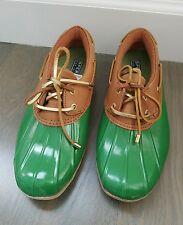 Sperry Top Sider Women Waterproof Rubber Boot Low Kelly Green Size 7