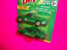 "MOUNTAIN DEW 2 PACK Die Cast w Plastic Parts Green Race Car & Truck ""Do the Dew"""