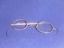 Antique BSO Eyeglasses Solid 10k Gold Wire Rim Round Spectacles