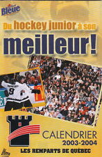 2003-04 QUEBEC REMPARTS HOCKEY POCKET SCHEDULE