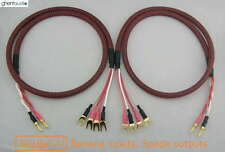 S01Bw(A) (1m 3ft) --- Canare Bi-Wire Speaker Audio Cable Banana(2) to Spade(4)