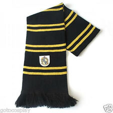 Harry Potter Hufflepuff Thicken Wool Knit Scarf Wrap Soft Warm Costume Cosplay