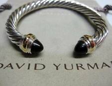 David Yurman 7mm Onyx Cable Bracelet with Pouch & Free Shipping