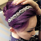 Fashion Retro Women HairBand Crystal Rhinestone Gray Beads Headband Hair Band