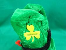 FUNNY HAPPY ST. PATRICK'S DAY GREEN LEPRECHAUN HAT AND BEARD COSTUME PLUSH TOY