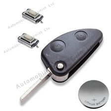 DIY repair KIT for Alfa Romeo 147 156 166 GT 2 button remote flip key fob