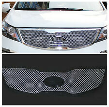 S.Steel Honeycomb Mesh Front Grille Bezel cover trim for Kia Sportage 2012-2014