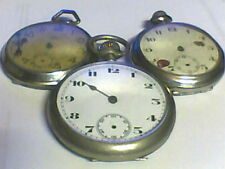 Lot of 3 pocket watches for parts or repair, E079