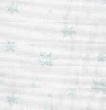 Fabric Flair - Snowflakes - 16 count Aida -  approx 45 x 50cm piece
