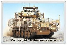 COMBAT VEHICLE - JUMBO FRIDGE MAGNET - BATTLE BRITISH ARMY MILITARY FORCES