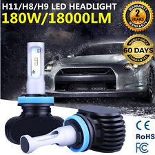 2x H11 180W 18000LM PHILIPS Headlight Low Beam Bulbs CSP LED 12V H8 H9 6500K new