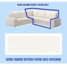 IKEA Kivik Corner Section 2-Seat Sofa Cover NEW Dansbo White(Add Mates)Slipcover