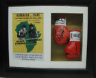 George Foreman V Muhammad Ali Miniature Signed Boxing Gloves Framed