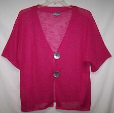 JM Collection Sz Large Cardigan Sweater Pink Light Weight